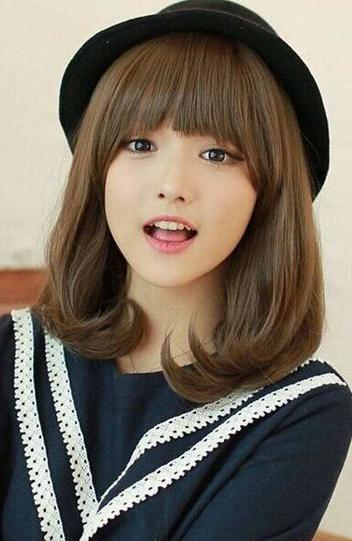 中长梨花头发型